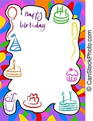 birthday border - birthday frame design