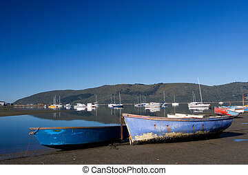 Boat 2 - Two boats next to the water - Knysna Harbour, South...