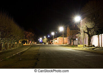 Cape - Colesberg 1 - Delapidated, small town street, Night...