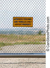 airport - authorized personnel only - airport security -...