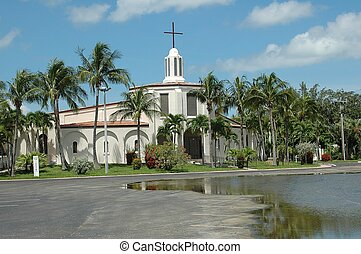Florida Church - Photographed at  Ft. Myers Beach, Florida