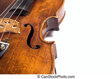 Violin ribs - Closeup profile of side (ribs) of a beautiful...