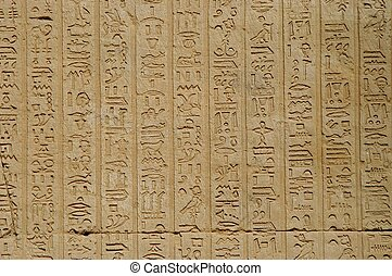 Hieroglyphics - Egyptian hieroglyphics