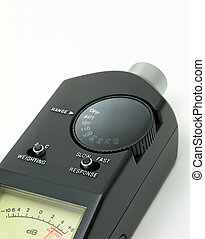 Audio level meter - Audio sound level meter close up
