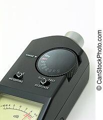 Audio level meter - Audio sound level meter close up.