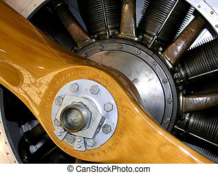 Propeller and engine - The engine pistons heads and screw of...