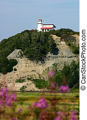 Lighthouse on Cliff - Lighthouse on cliff overlooking Cook...