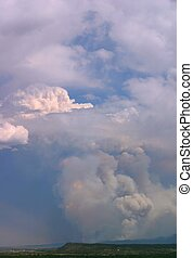 Forest Fire 2 - Huge billowing plumes of smoke from forest...