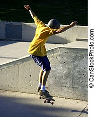 sk8 2 - skaterboy doing tricks,some motion on the boy