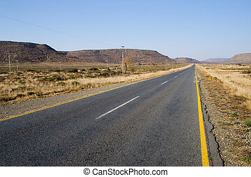 Cape roads 2 - Desolate road just outside Colesberg, South...