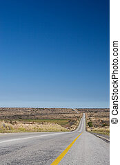 Cape roads 4 - Desolate road just outside Colesberg, South...