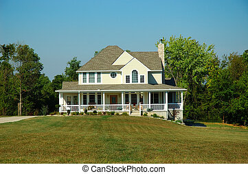 Farm House in Summer - Typical farm house in Kentucky USA