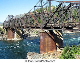 tren, Puente, muelles