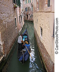 Narrow - A narrow canal in venice