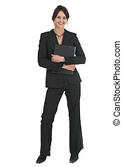 Businesslady #75 - Dark haired business woman with black...