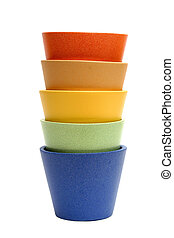 Rainbow Pots - Colorful pots, isolated