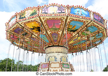 fairground ride - swing roundabout at a fairground