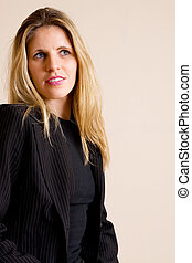 Businesslady #81 - Blonde haired busines woman, wearing...