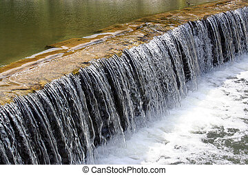 Acoustic Waterfall - An acoustic waterfall in a creek near a...
