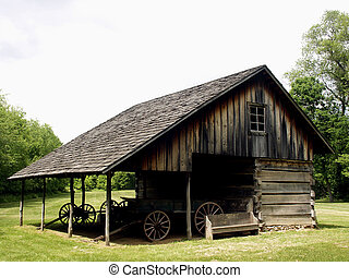Settler's Cabin - Old settler's cabin at Forest Glen State...