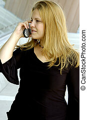 Attractive Young Woman - Attractive Blond Young Woman Making...