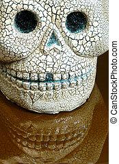 万圣節, 反映, 頭骨, 牙齒