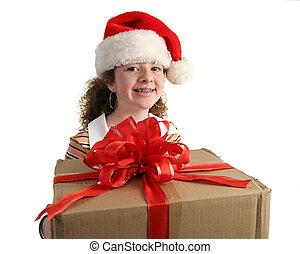 Christmas Girl With Braces - a young girl with braces...