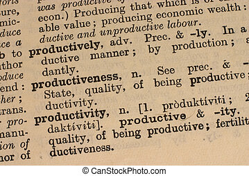 Business - productiv - Part of the definition of...