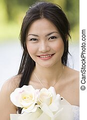 Asian Bride 5 - A stunning asian bride in her wedding dress...