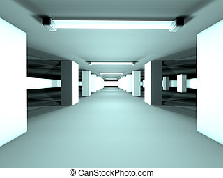 Garage - Wide angle - High res 3D rendered scenery...