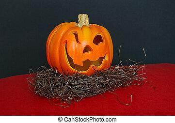 Jack O Lantern - A small jack o lantern. Carved Halloween...