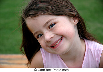 Adorable Five Year Old Girl - Great smile on an adorable...