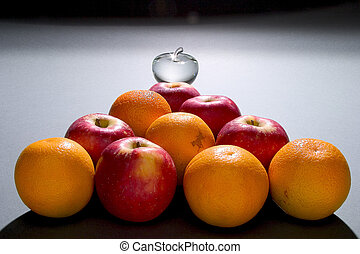 apples oranges n glass apple - a pyramid of apples oranges...