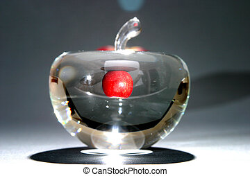 unlock your potential - apple within glass apple