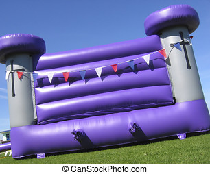 Bouncy castle - Purple bouncy castle
