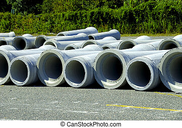 Sewer Pipes - Photo of Concrete Sewer Pipes