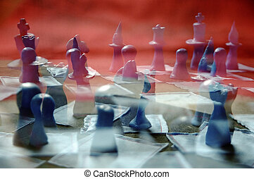 Chess Chaos - A multiple exposure of chess figures...