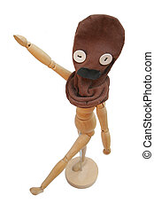 Single fascist - A puppet with a brown sock - making...