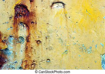 Rusted Metal - Closeup of rusty metal.