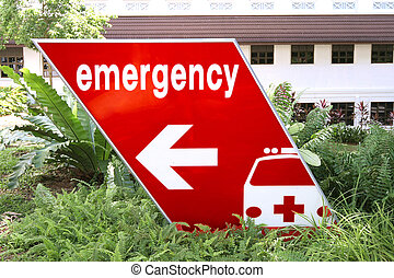 emergency sign directing traffic