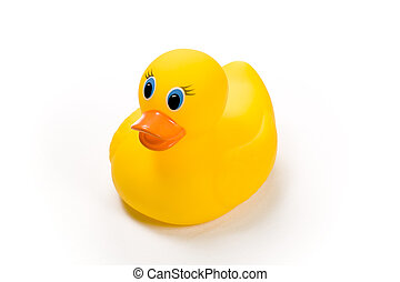 Rubber Ducky - Yellow bath toy, rubber ducky isolated...