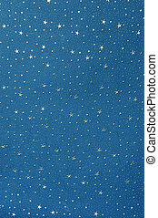 Handmade Star Paper - Handmade blue paper with shiny silver...