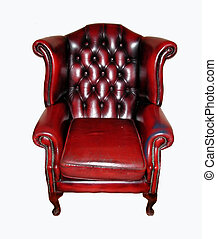 Luxury armchair - Isolated luxurious leather armchair