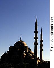 Yeni Camii mosque at sunset