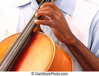 musician's, mão