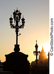 Lamppost in Moscow
