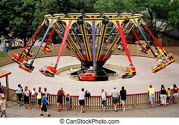 carnival ride - circling ride at the carnival
