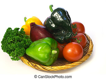 Vegetable basket 1 - Still life of a vegetable basket with a...