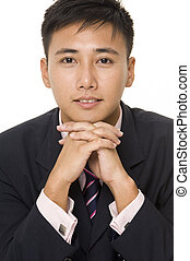 Asian Businessman 4 - A young asian businessman in navy...