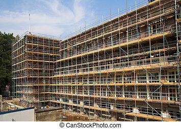 Scaffold on a building